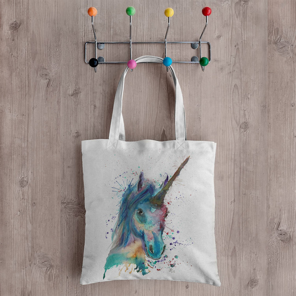 """Marge"" Unicorn Canvas Tote Bag"