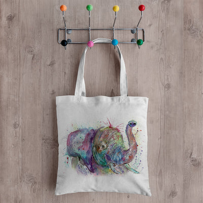 """Ele"" Elephant Canvas Tote Bag"