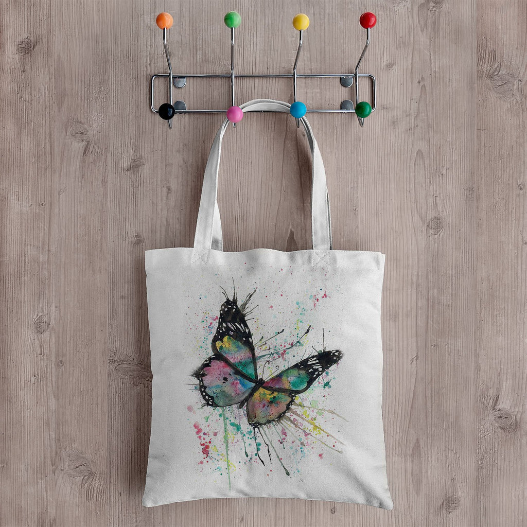 """Flutter"" Butterfly Canvas Tote Bag"