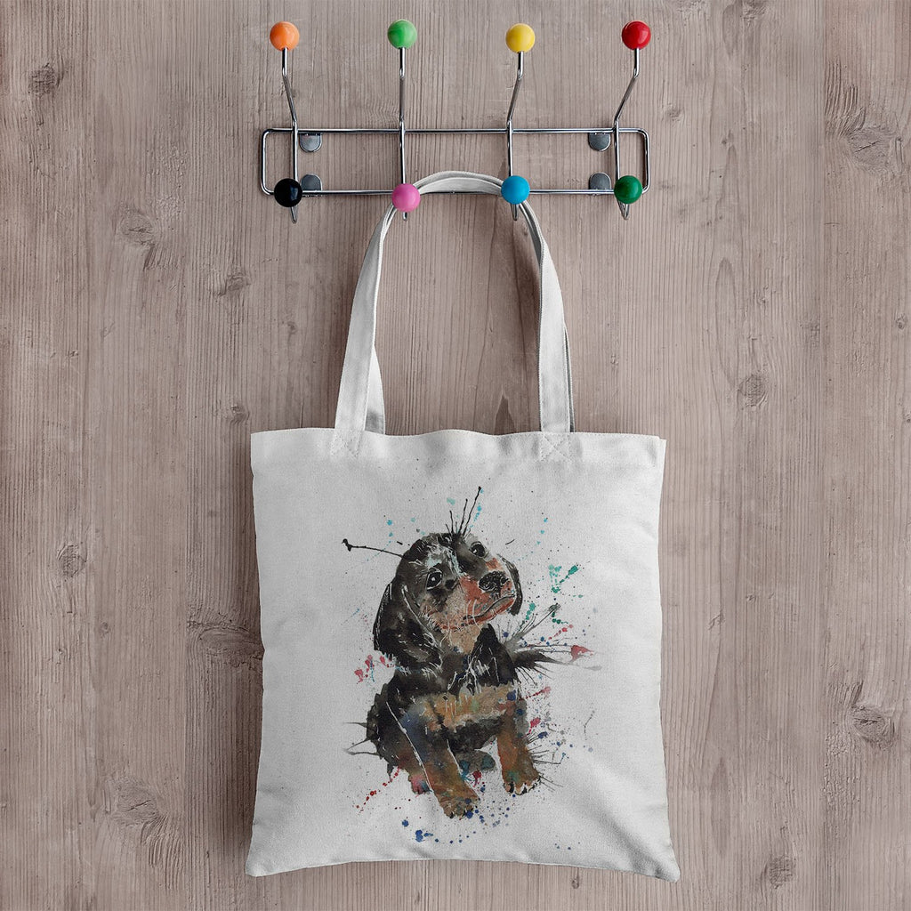 """Pierre"" Dachshund Canvas Tote Bag"