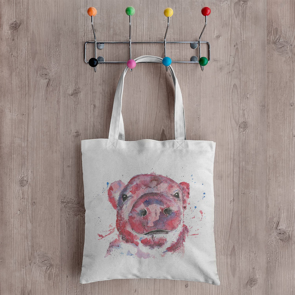 """Priscilla"" Pig Canvas Tote Bag"