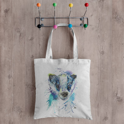 """Badge"" Badger Canvas Tote Bag"