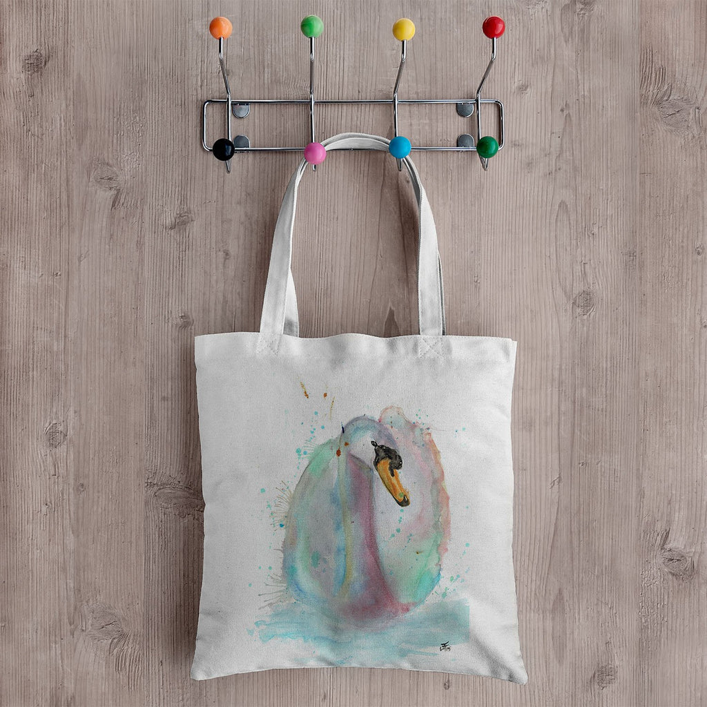 Swan Canvas Tote Bag