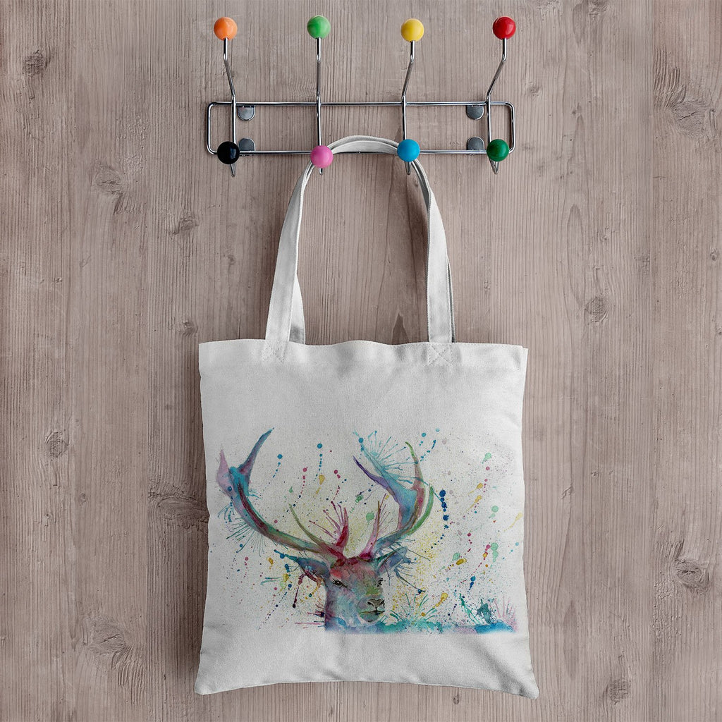 """Proud"" Stag Canvas Tote Bag"