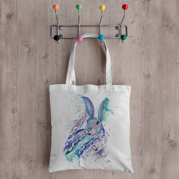 """Faraway"" Rabbit Canvas Tote Bag"