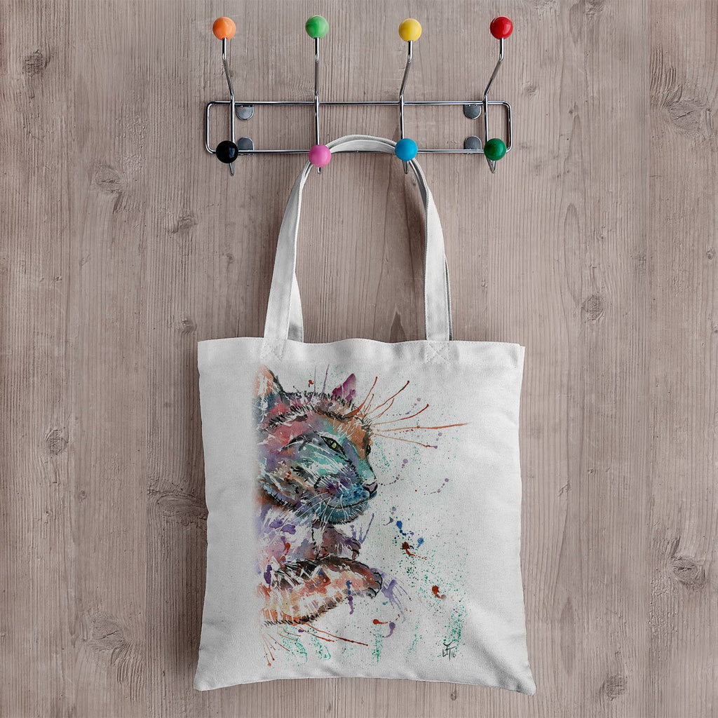 """Dave"" Cat Canvas Tote Bag"