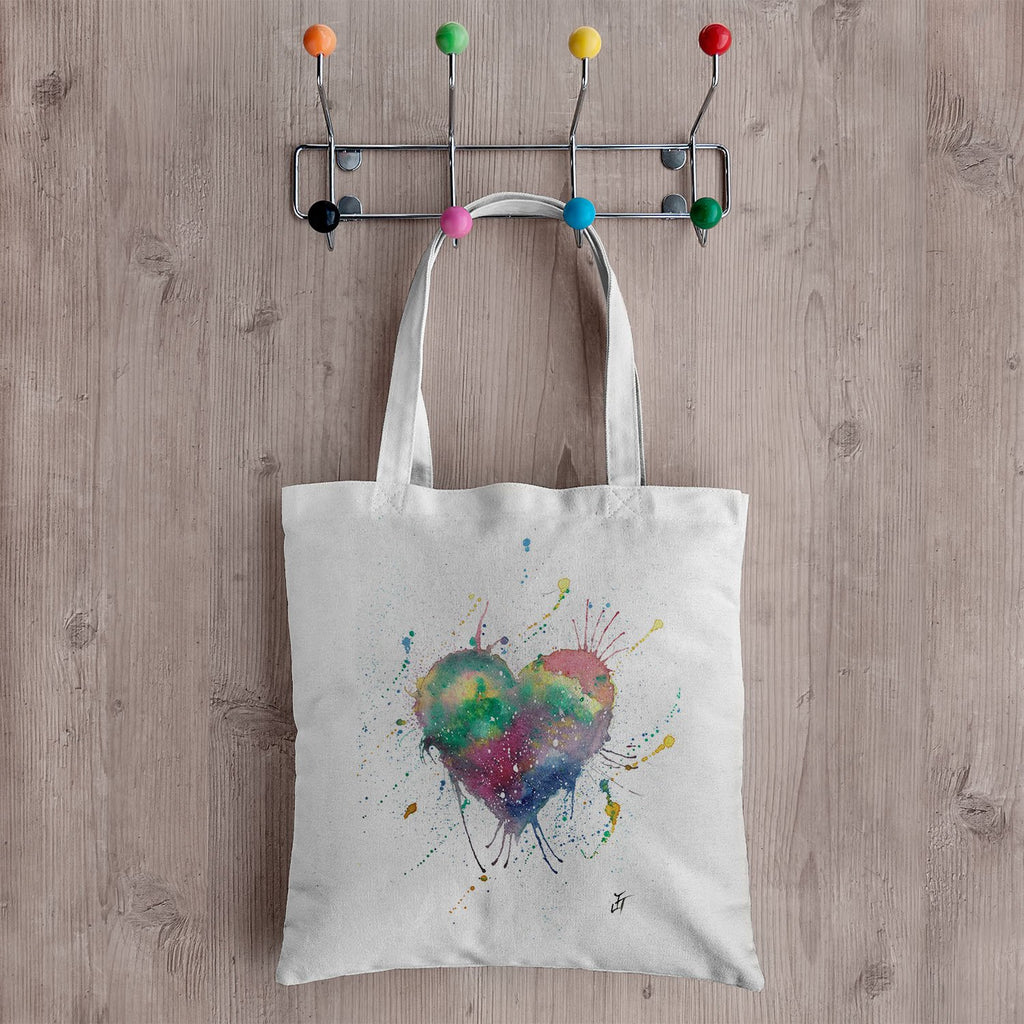 Heart Canvas Tote Bag