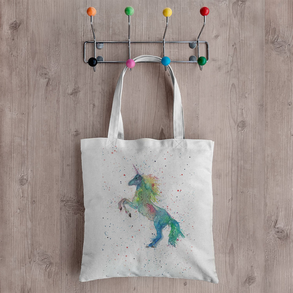 Rainbow Unicorn Canvas Tote Bag