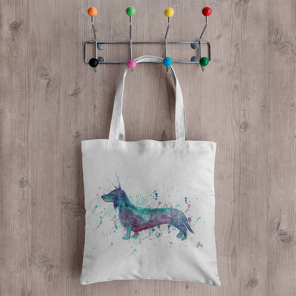 Mr Sausage Dog Canvas Tote Bag