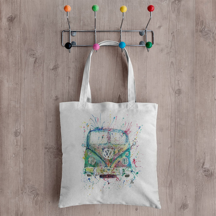 Camper Van Canvas Tote Bag