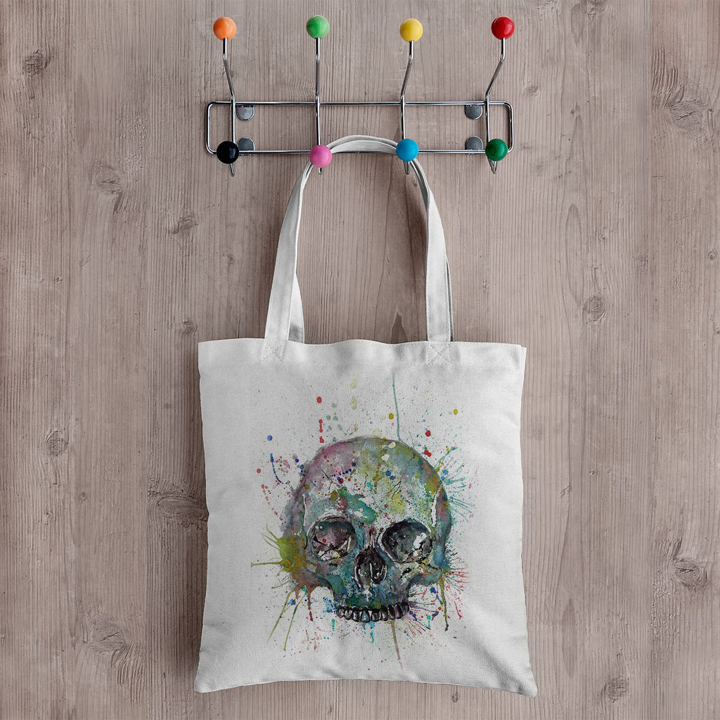 Blue Skull Canvas Tote Bag