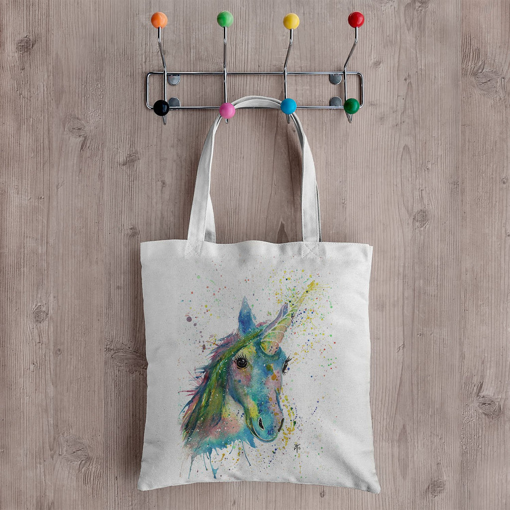 """Patty"" Unicorn Canvas Tote Bag"