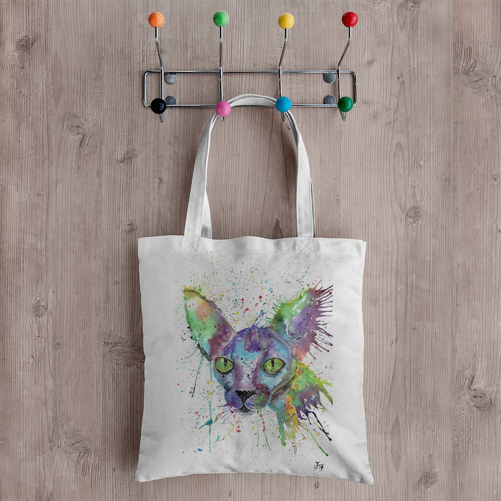 """Brian"" Sphynx Canvas Tote Bag"
