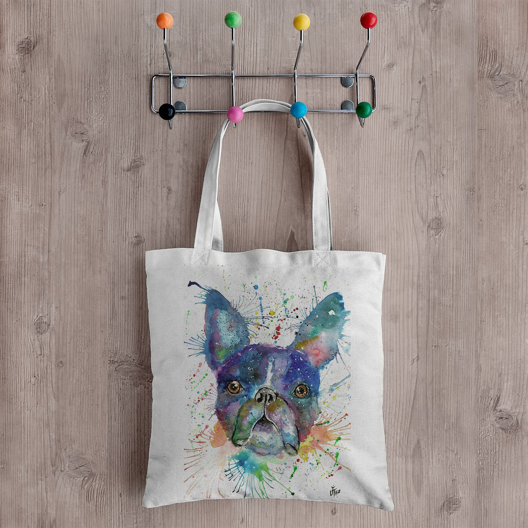 """Bruno"" Boston Terrier Canvas Tote Bag"