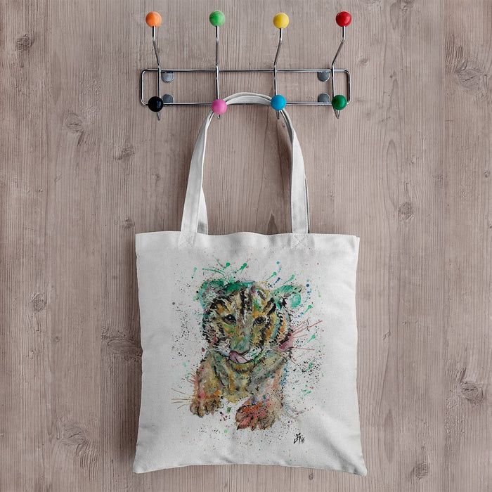 """Franklin"" Tiger Cub Canvas Tote Bag"