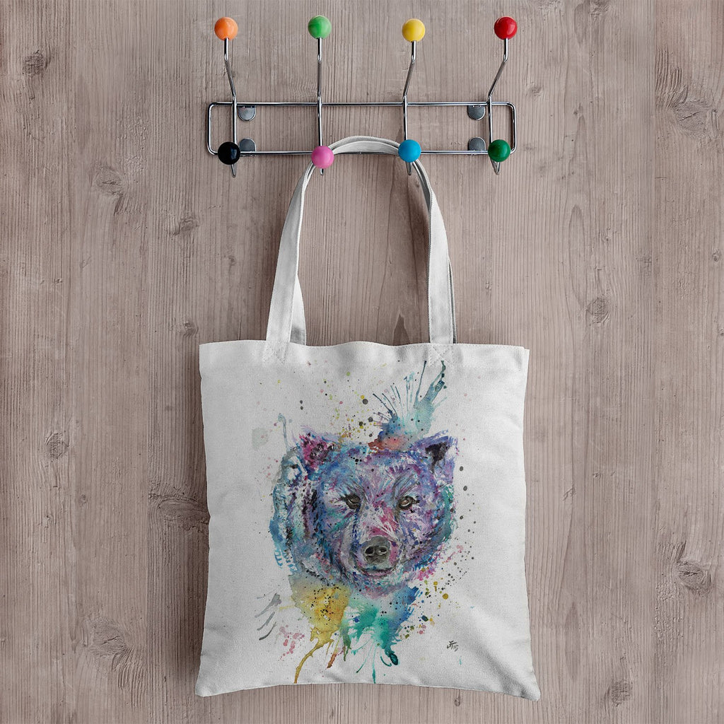 """Monty"" Bear Canvas Tote Bag"