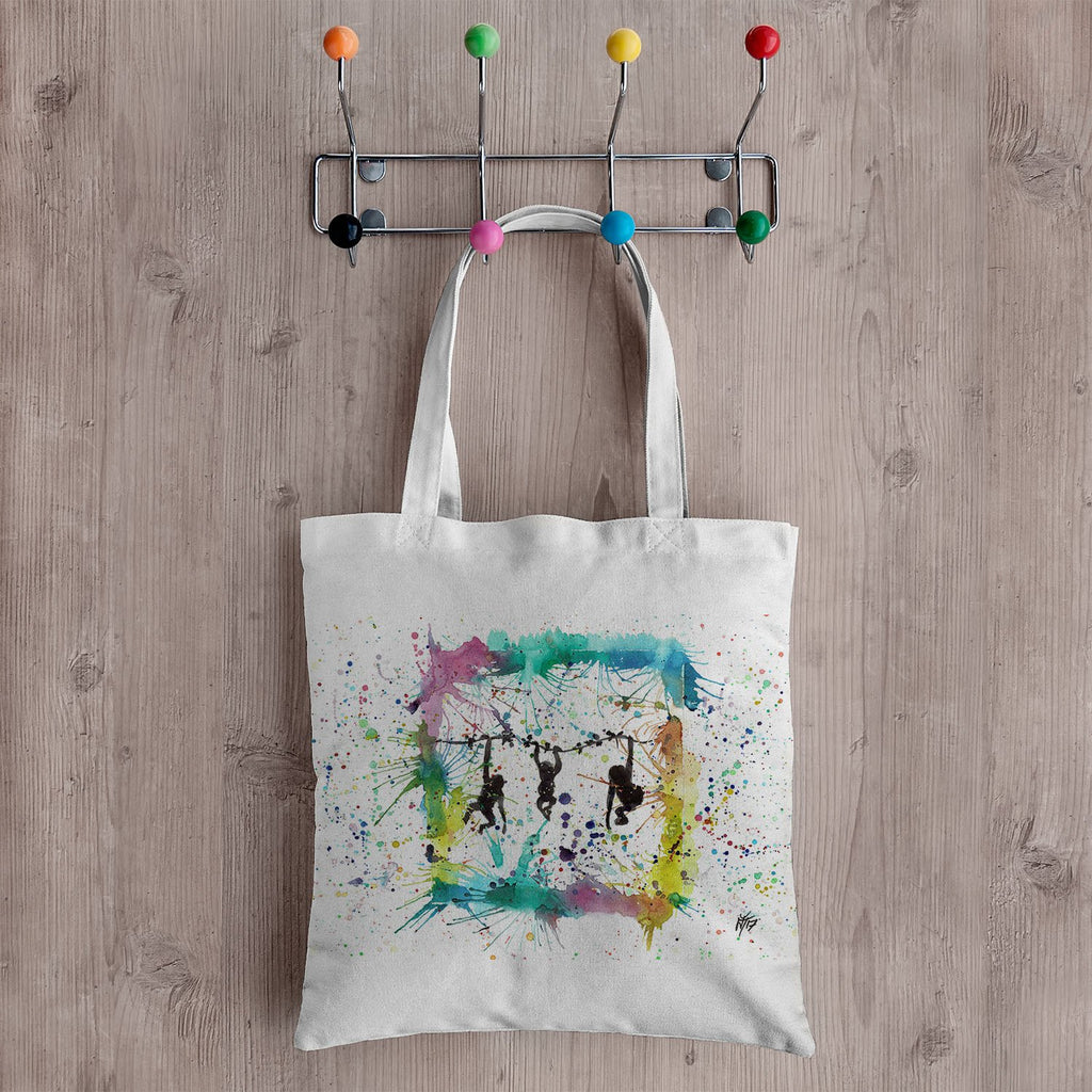 Monkey Business Canvas Tote Bag