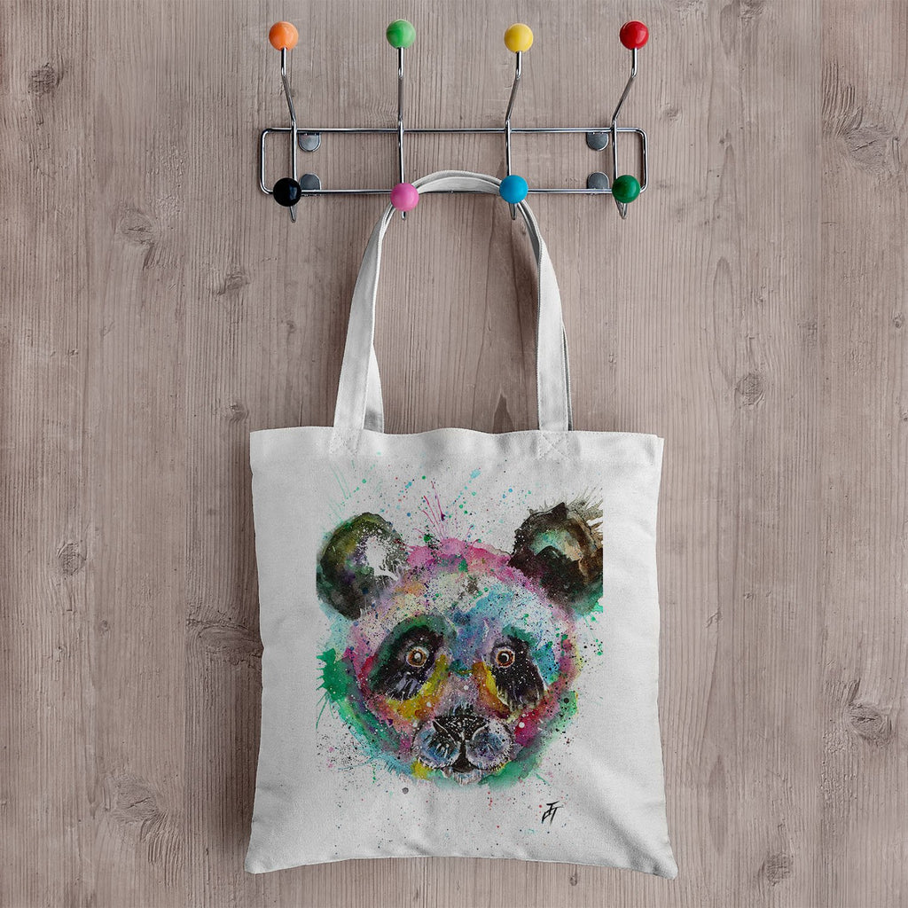 """Sid"" Panda Canvas Tote Bag"