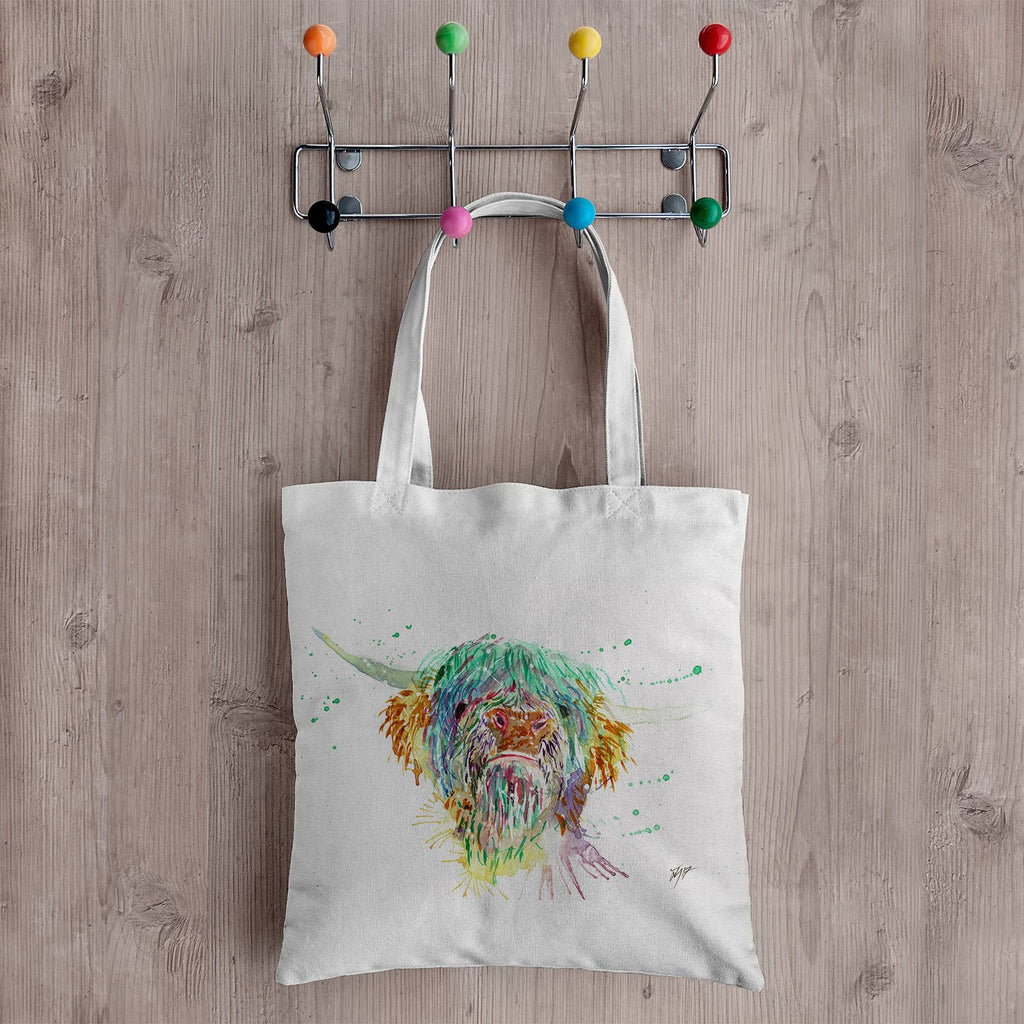 Highland Cow Canvas Tote Bag
