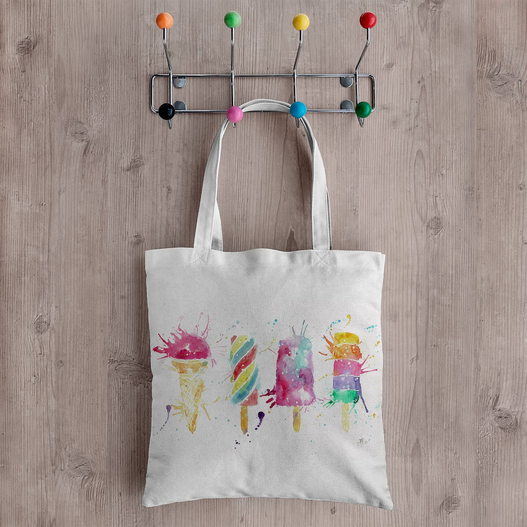 Ice Lollies Canvas Tote Bag