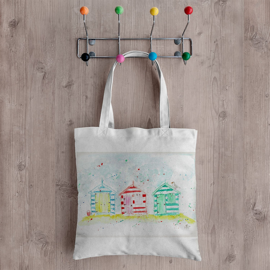 Beach Huts Canvas Tote Bag