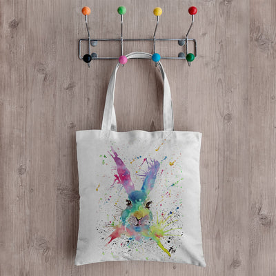 Summer Hare Canvas Tote Bag