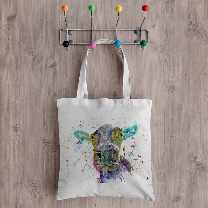 """Daisy"" Cow Canvas Tote Bag"