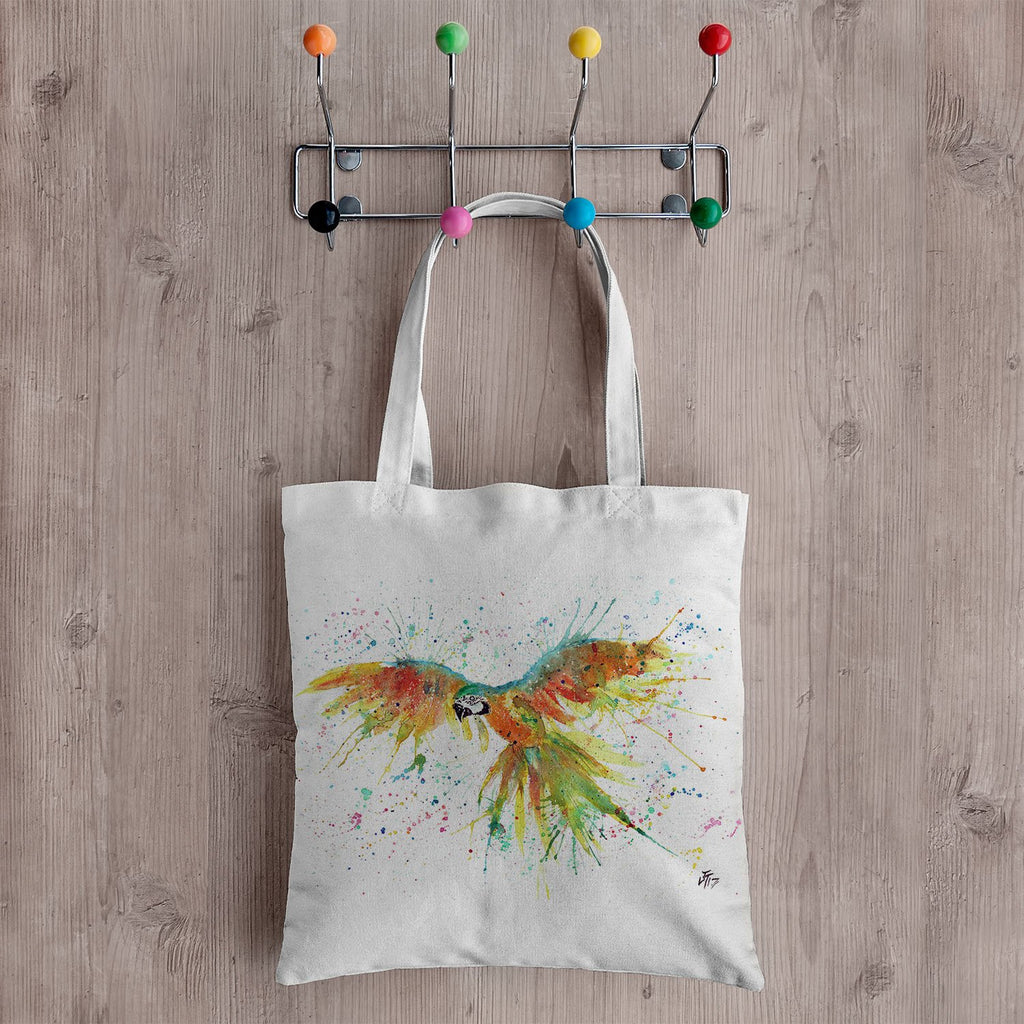 """Ian"" Parrot Canvas Tote Bag"