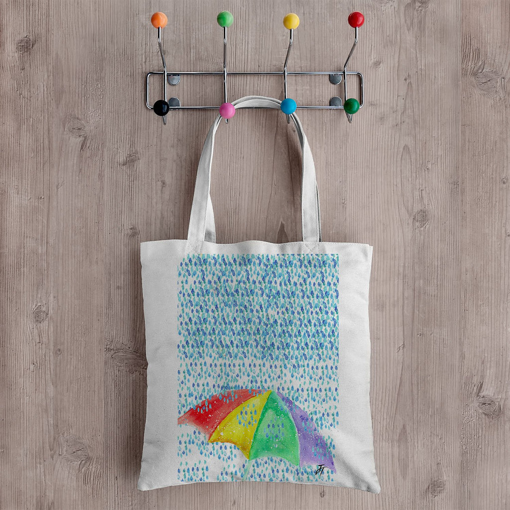 British Summer Canvas Tote Bag