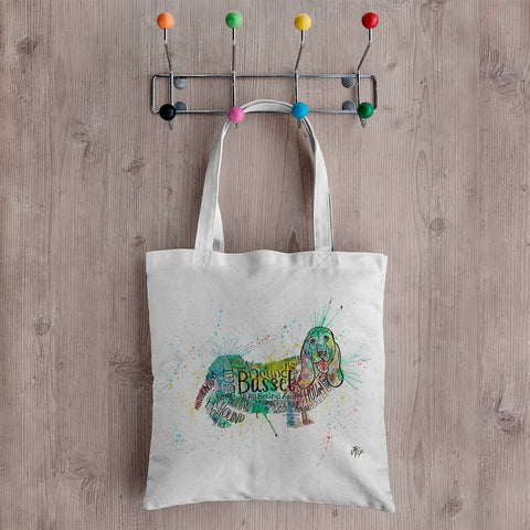 Basset Splash Canvas Tote Bag