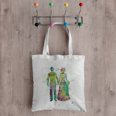 Bride & Groom Canvas Tote Bag