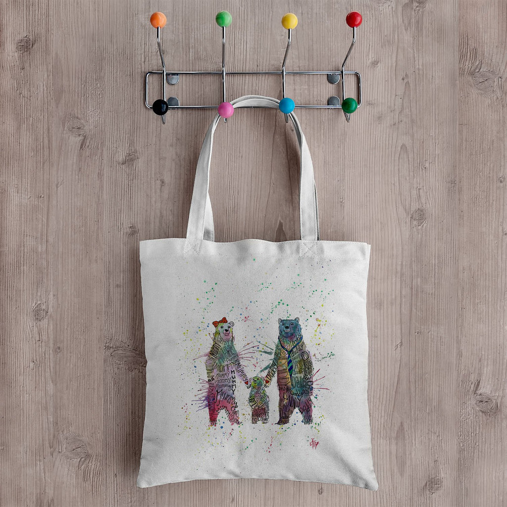 Mummy, Babby, Daddy Bears Canvas Tote Bag