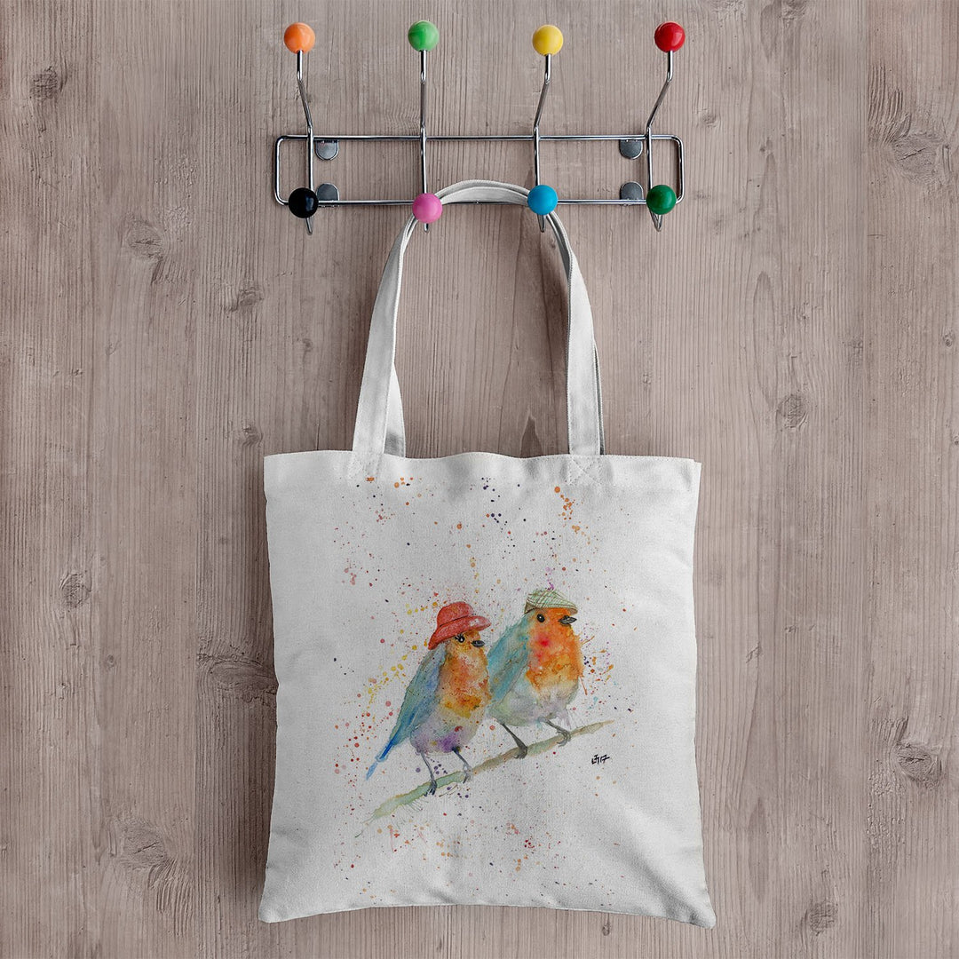 Mr & Mrs Robin Canvas Tote Bag