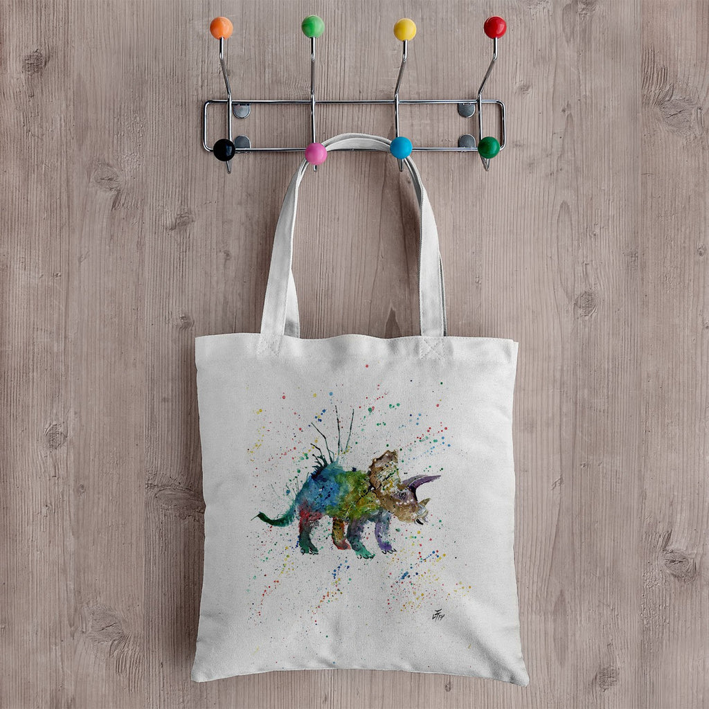 """Steve"" Triceratops Canvas Tote Bag"