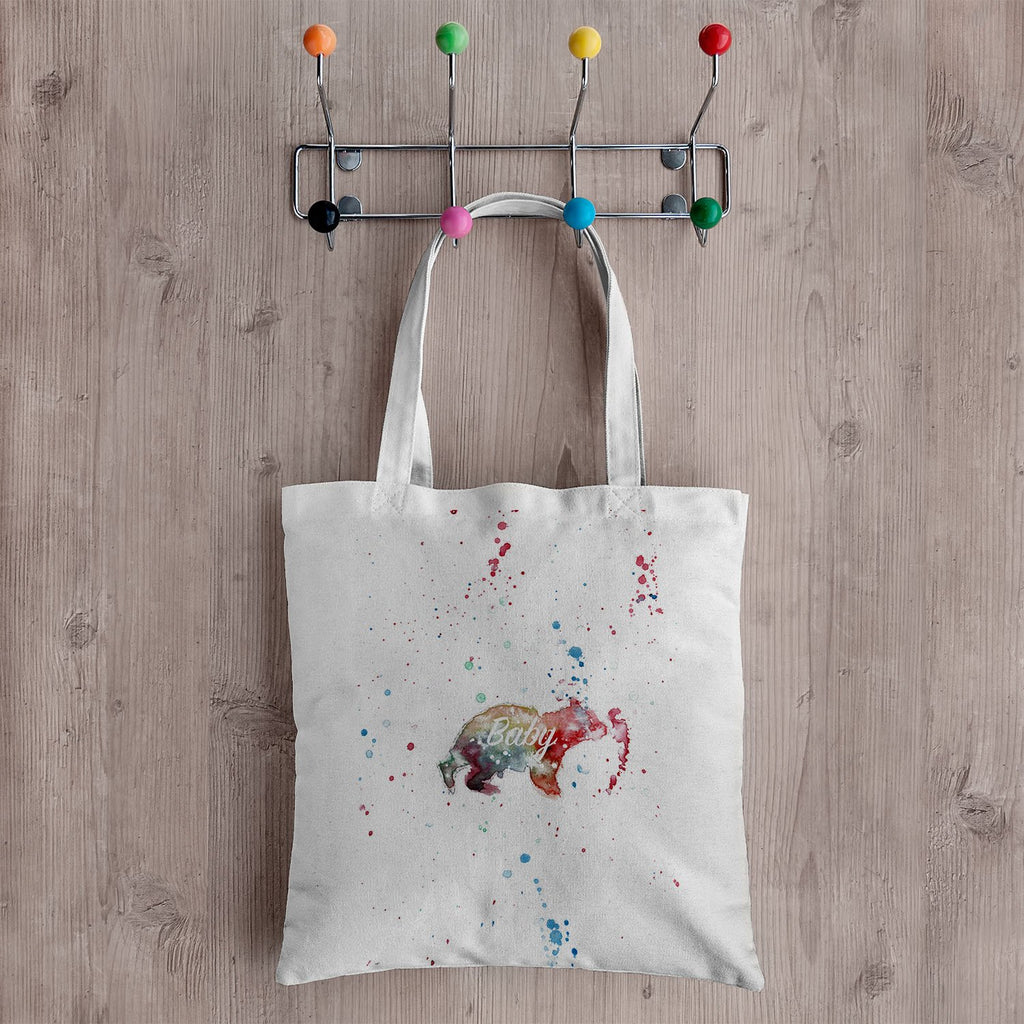 Baby Bear Canvas Tote Bag