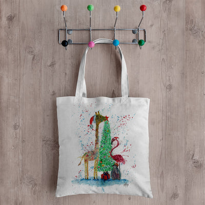 Christmas Pals Canvas Tote Bag