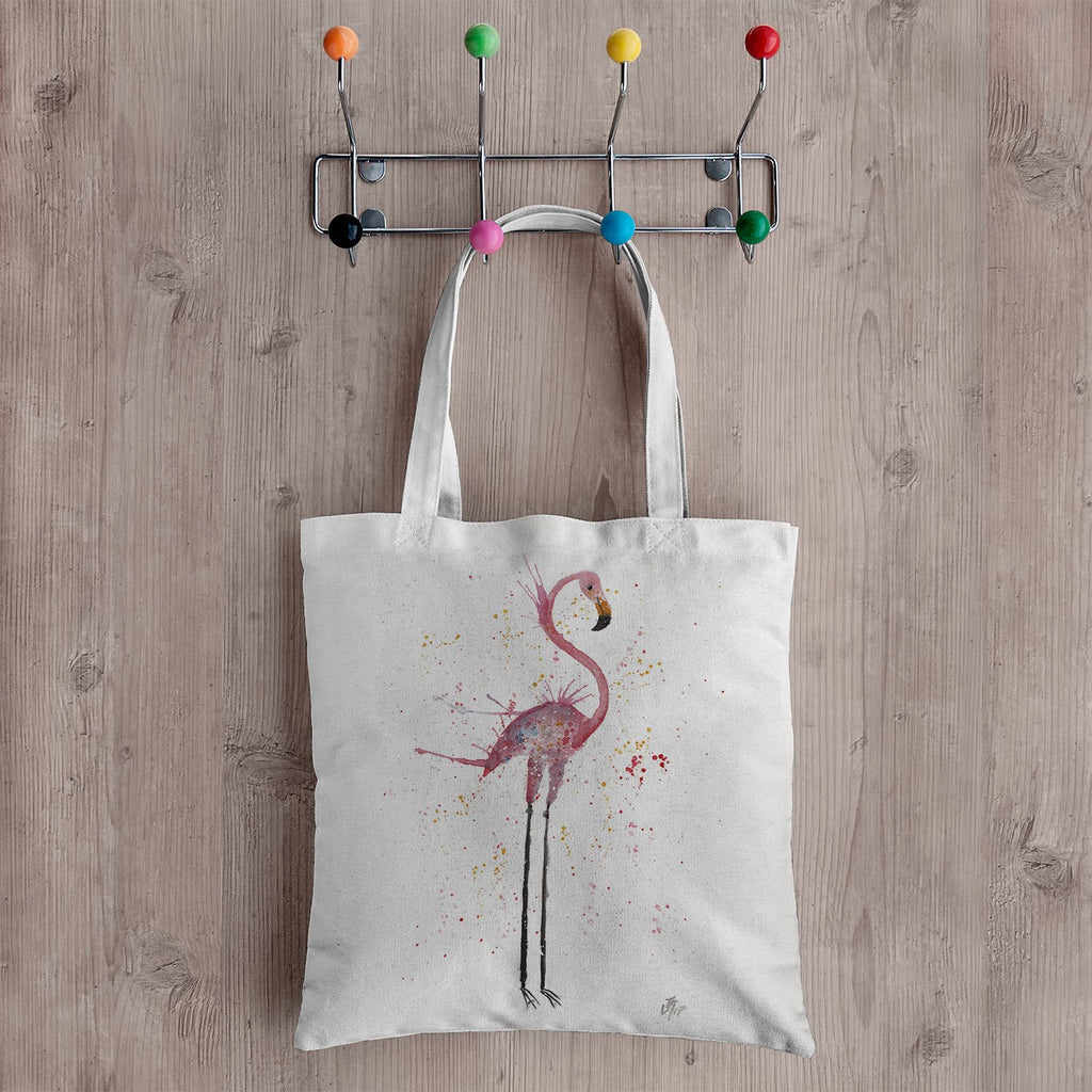 """Sheila"" Flamingo Canvas Tote Bag"