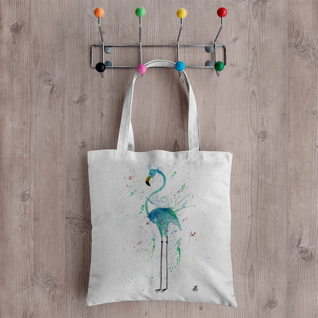 """Mary"" Flamingo Canvas Tote Bag"