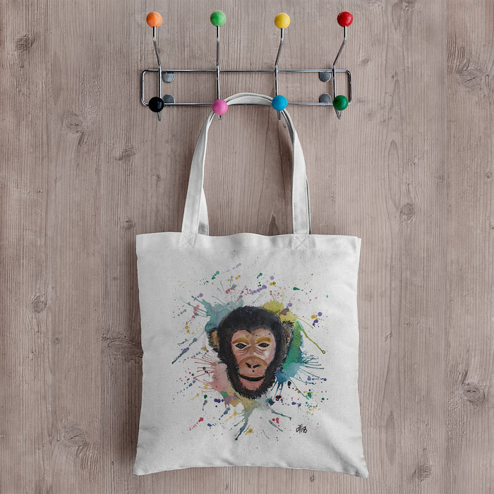 """Ciril"" Monkey Canvas Tote Bag"