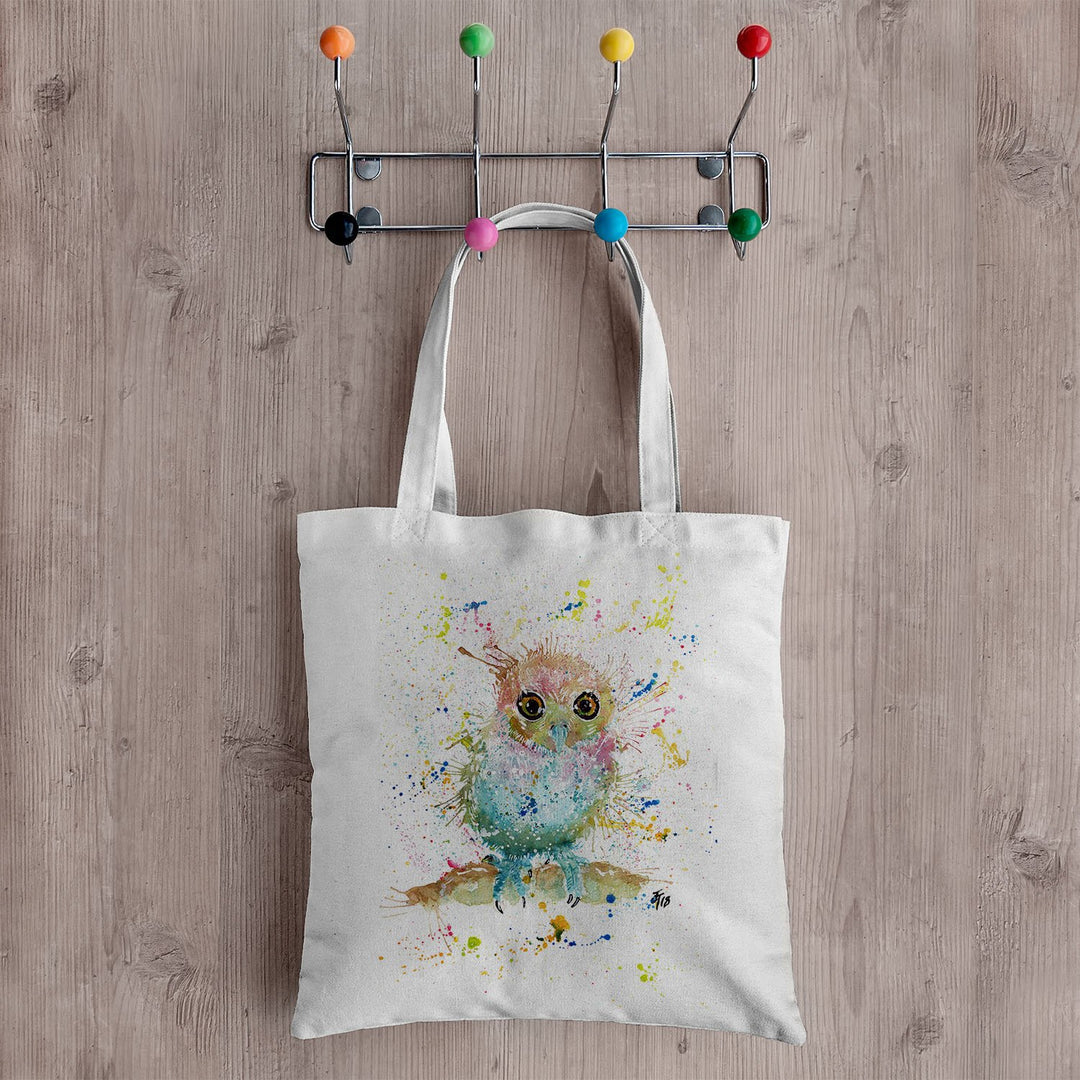 Baby Owl Canvas Tote Bag