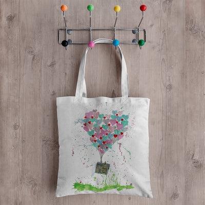 Valentines Up Canvas Tote Bag