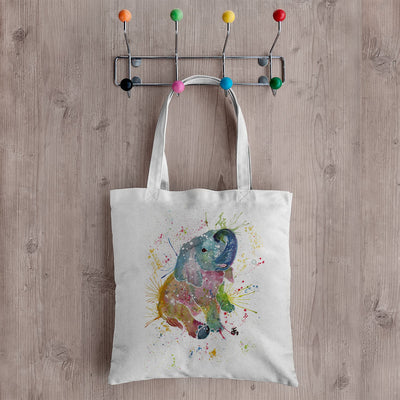 Baby Elephant Canvas Tote Bag
