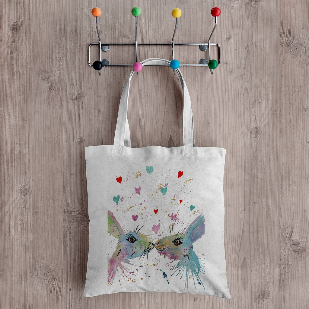 Bunnies in Love Canvas Tote Bag