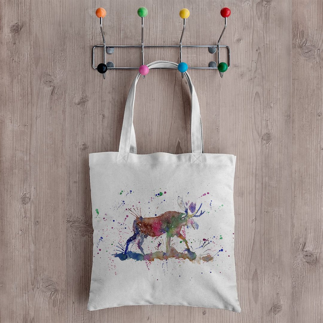 """Morgan"" Moose Canvas Tote Bag"