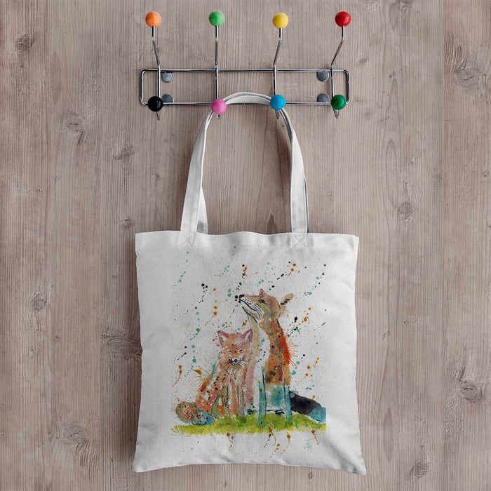 """Always Us"" Foxes Canvas Tote Bag"
