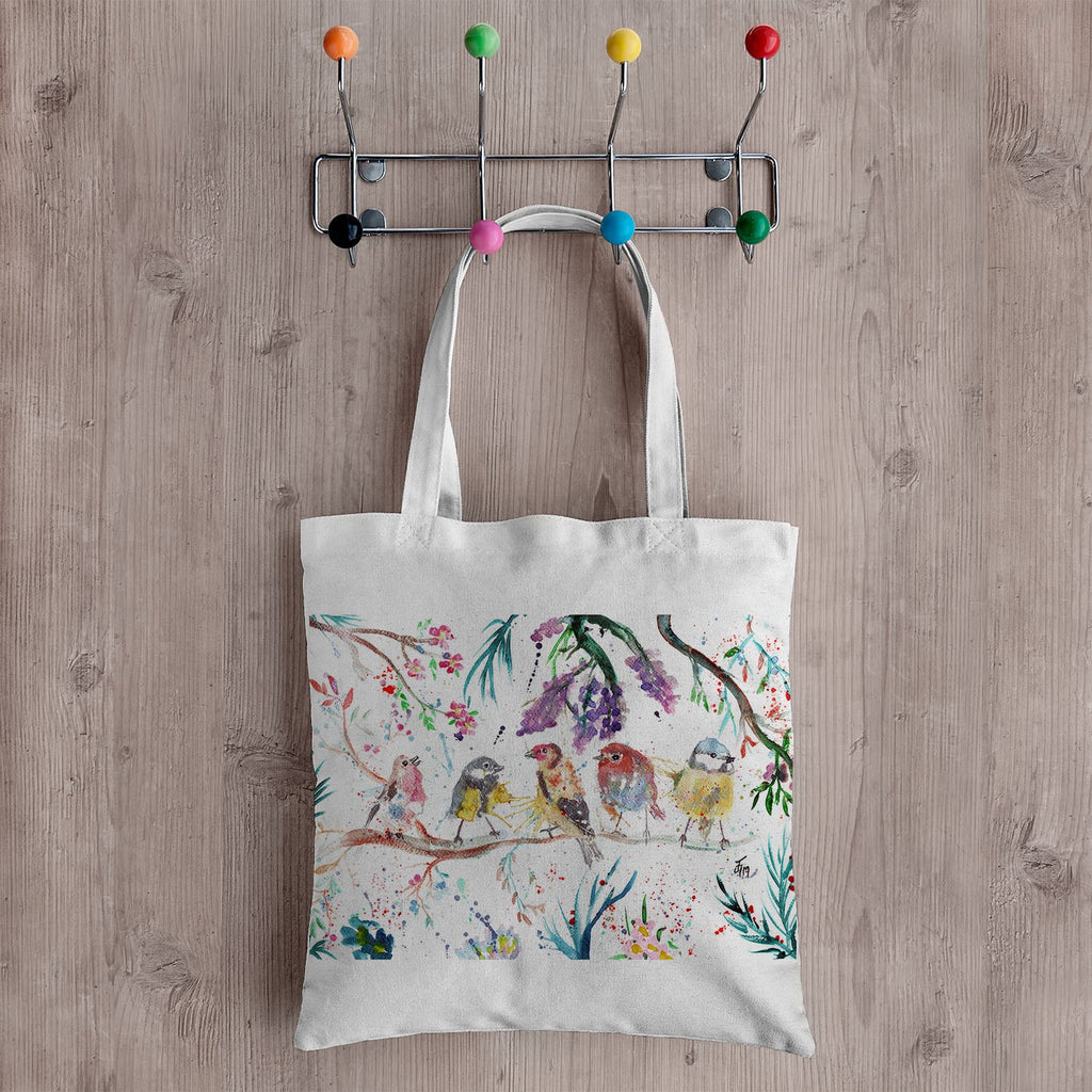 """Tree Friends"" Birds Canvas Tote Bag"