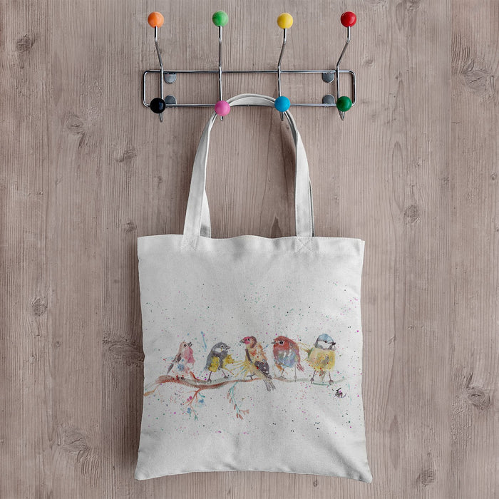 """Tree Friends"" Birds 2 Canvas Tote Bag"