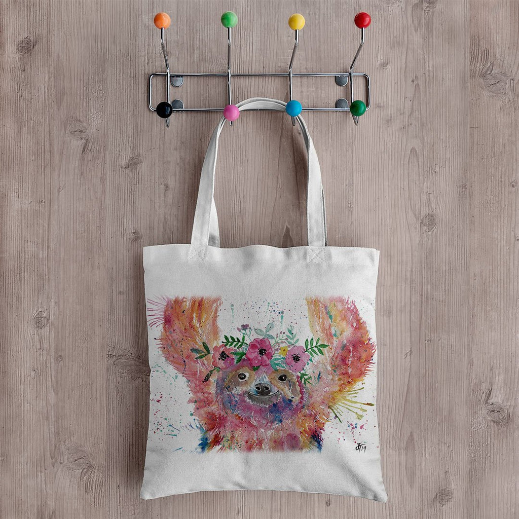 Hey Mrs Sloth Canvas Tote Bag