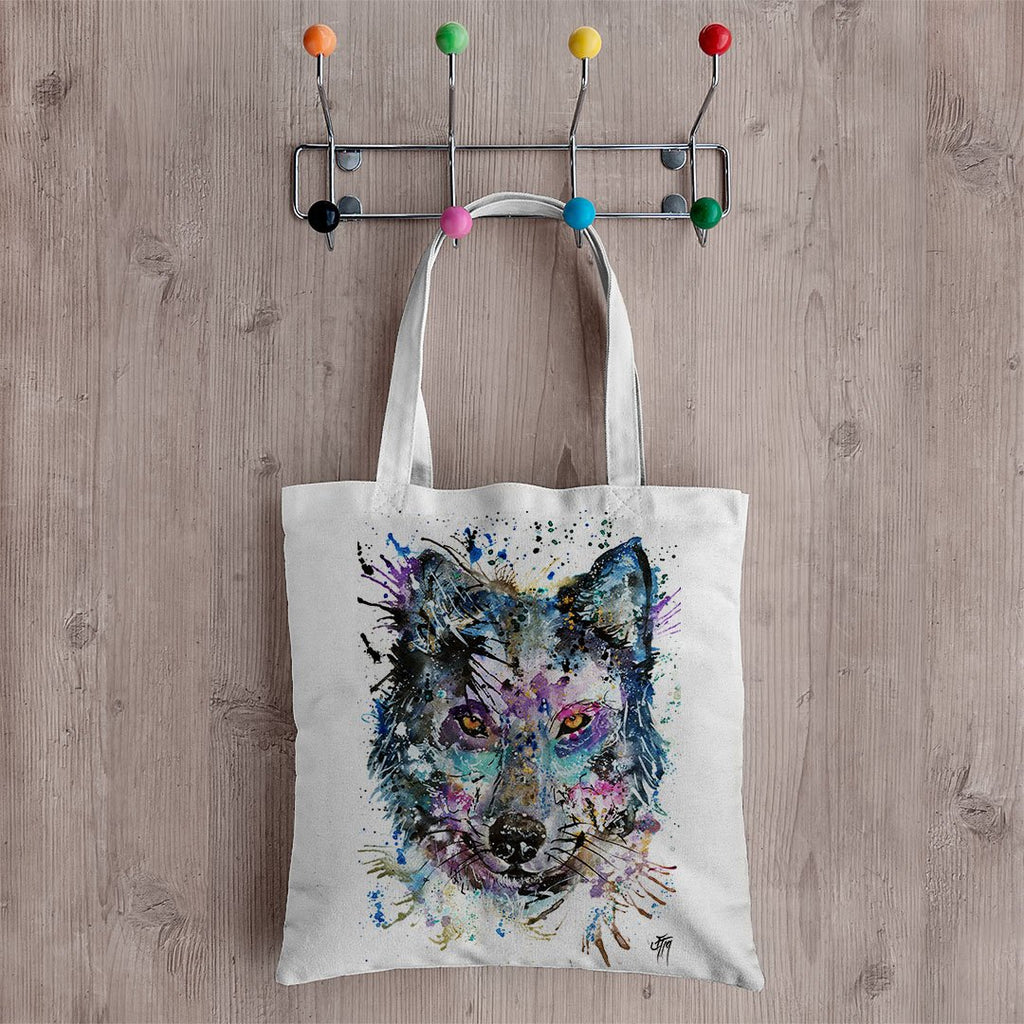 """Howl"" Wolf Canvas Tote Bag"