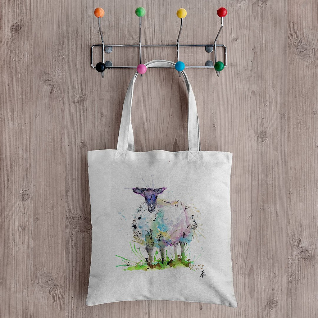 """I Adore Ewe"" Sheep Canvas Tote Bag"